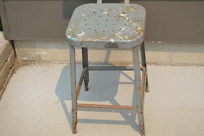 Wondrous Vintage Industrial Metal Stool Steampunk Shop Drafting Chair Machost Co Dining Chair Design Ideas Machostcouk
