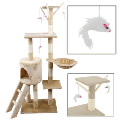 Cat Tree Scratching Climbing Activity Centre Sisal Bed Toys Scratcher Tower DCUK