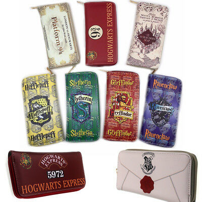 Harry Potter Short Long Wallet Faux Leather Coin Purse Zipper ID/Credit Holder