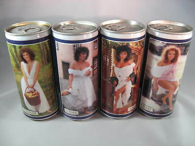 4 Tennent's Beer Cans - 440ml - 11th Lovelies set -1987-1988 - Crimped Neck set