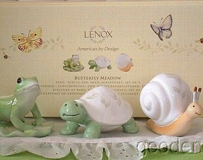 Lenox Butterfly Meadow Frog Turtle & Snail Set Of 3