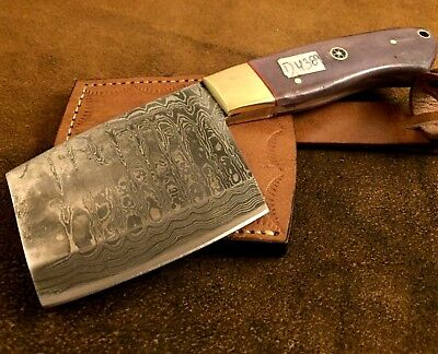 Handmade Pattern Welded Damascus Steel Axe-Functional-Bush Craft-Camping-Dh389