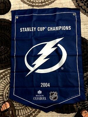2018  Molson Canadian  Stanley Cup Champions Banner  Tampa Bay Lightning