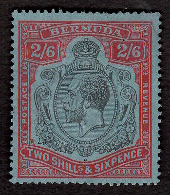 Bermuda 1927 King George V Two Shillings & Sixpence Stamp Very Lightly Used