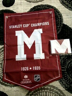 2018  Molson Canadian  Stanley Cup Champions Banner  Montreal Maroons