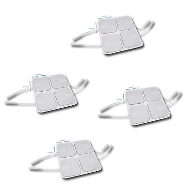 16 Pack Tens Unit Pigtail Square Electrode Pads 2 X 2 inch Premium Quality