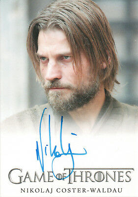 Game of Thrones Series Four, Nikolaj Coster-Waldau 'Jamie Lannister' Auto Card