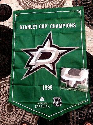 2018  Molson Canadian  Stanley Cup Champions Banner Dallas Stars