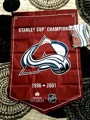 2018  Molson Canadian  Stanley Cup Champions Banner Colorado Avalanche