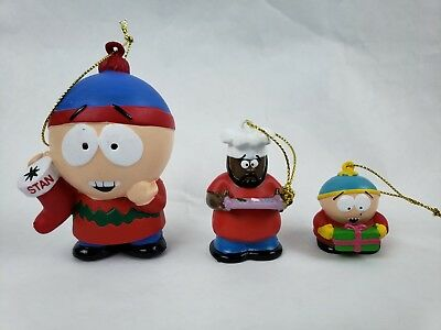 South Park Stan Cartman Chef Christmas Ornament Kurt S Adler Comedy Central