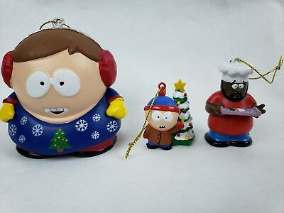 South Park Cartman Chef Stan Christmas Ornament Kurt S Adler Comedy Central