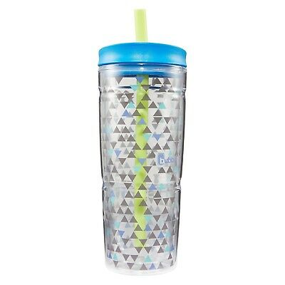(710ml, blue triangle graphic) - Bubba Brands 1965876 Envy Insulated Double
