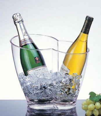 Acrylic Vino-Duo Two Bottle Wine Chiller - AB-22. Prodyne. Free Delivery