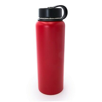 (1180ml, Chinese Red) - Tahoe Trails Double Wall Vacuum Insulated Stainless
