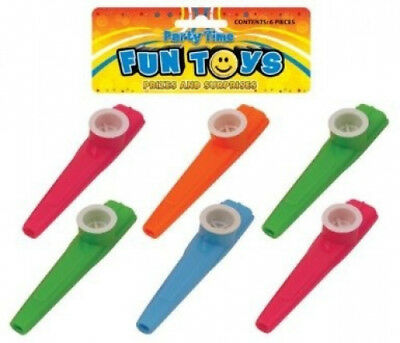 Bag Of 6 Kazoos 11cm (Assorted Colours). Henbrandt. Shipping is Free