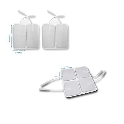 Tens Unit Pads Electrodes 4 Pieces Large 2 x 4 inches 4 pieces small 2 x2 inches
