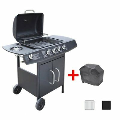 Gas Barbecue Grill 4+1 Burners BBQ  Garden Outdoor Feast Stainless Steel 3 Color