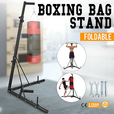 Foldable Boxing Bag Stand Fitness Practice Portable New Free Standing