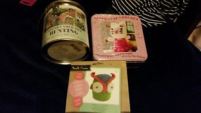 3 x New CROCHET KITS Bunting, Mouse & Owl Free Post