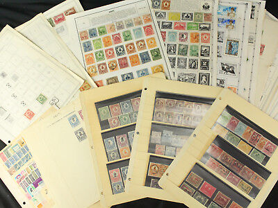 Huge Haiti Stamp Collection Lot Mint & Used w/Early Classics on Pages - Look!