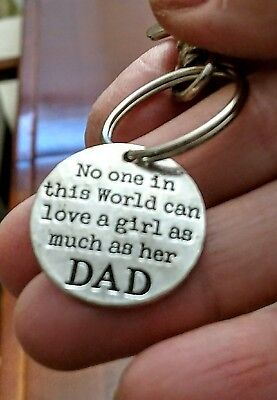 NEW key ring/clip-DAD daughter, antiqued silver,Father,birth Daddy lobster hook