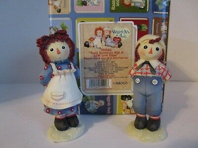 Raggedy Ann & Andy with Gifts ~ Touch Somebody With A Little Love #709085 Enesco