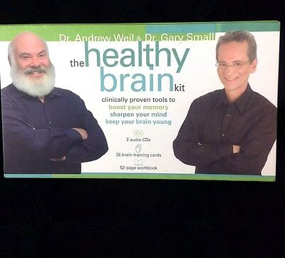 Andrew Weil Healthy Brain Kit Memory Activity Set CDs Workbook and Cards Unused