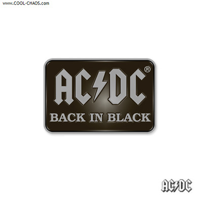 AC/DC Hat Pin / AC/DC Back in Black Button Badge Pin,Enamel Collectors Pin
