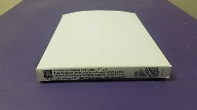 C-Line Self-Adhesive Business Card Holders Side Load 3 1/2x2 Clear 50 Pack 70238