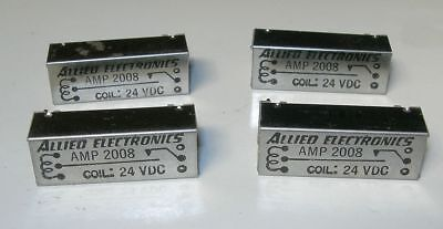 Allied Coil DIP Relay Reed Switches 24VDC 4 PCS NOS