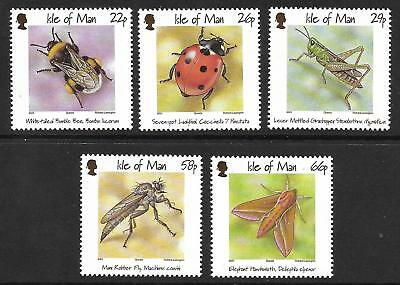 Isle Of Man 2001 Insects Sg 924-28 Set 5  Mnh.