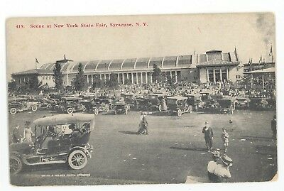 Old Cars Antique Automobiles at New York State Fair SYRACUSE NY Vintage Postcard