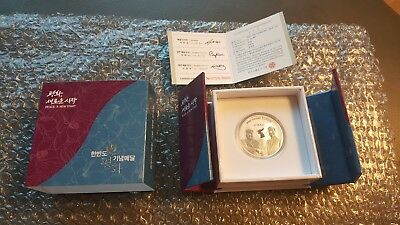 2018 South Korea Inter-Korean Summit 1 Oz Silver Medal Kim-Moon #07316