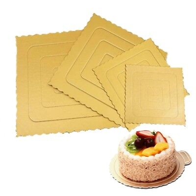 10PC Mousse Cake Paper Board Round Square Dessert Display Tray Kitchen Accessory