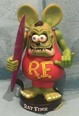 Rat Fink On A Skate Board Action Figure  1999, loose - Ed Big Daddy Roth