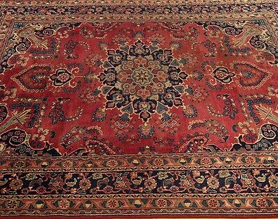 6.4 x 9.8 Vintage Hand Knotted Handmade Antique Circa1930s Persian Wool Rug