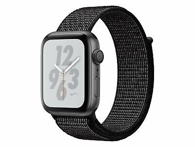 Apple Watch Series 4 Nike+, 44 mm, Alu. space grau, Sport Loop schwarz