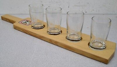 Widmer Brothers 4 oz Glasses (4) w/ Serving Paddle