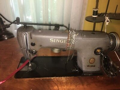 Industrial SINGER Sewing Machine 251-2 wooden table, lamp sold seperate , Works