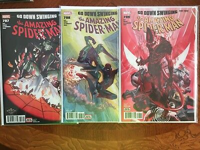 AMAZING SPIDER-MAN #797 798 799 1st print set 1st app RED-GOBLIN ALEX ROSS HG NM