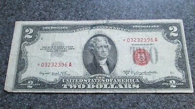 1953 B series, $2 STAR note in CIRCULATED COND.,RARE STAR NOTE,COMBINED SHIPPING