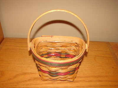 Longaberger 1998 Featured Little Joy Basket and Protector