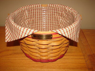 Longaberger 1999 Collectors Club Homestead Apple Basket Combo