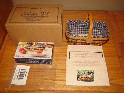 Longaberger 2000-2001 Collectors Club Miniature Gathering Basket Super Combo