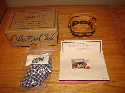 Longaberger 2001-2002 Collectors Club Miniature Berry Basket Super Set