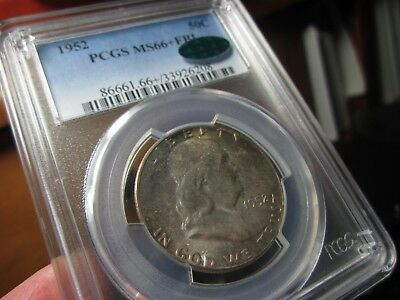 Registry Franklin Half Dollar 1952 Ms-66+ Fbl Pcgs & Cac   Only 28 Higher  Pq