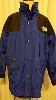 Clearance Vintage The North Face Blue Hooded Gore-Tex Nylon Parka Men's Jacket S