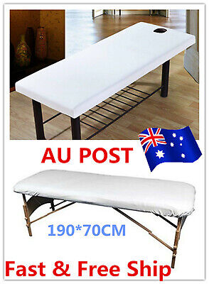 2X Beauty Massage Bed Table Elastic Cover Salon Spa Couch Cotton Sheet 190x70cm