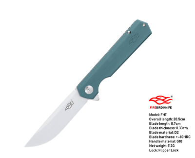 Ganzo Firebird FH11-GB D2 Steel G10 Handle Ball Bearing Folding Knife
