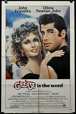 Grease 1978 Original 27X41 Movie Poster John Travolta Olivia Newton-John